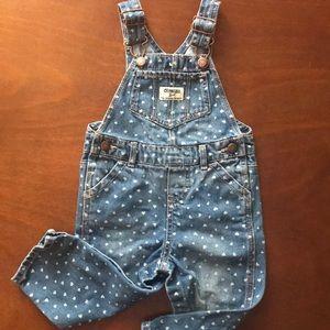 OSHKOSH Infant Girls BRIGHT PINK CORDUROY OVERALLS NWT bib pants